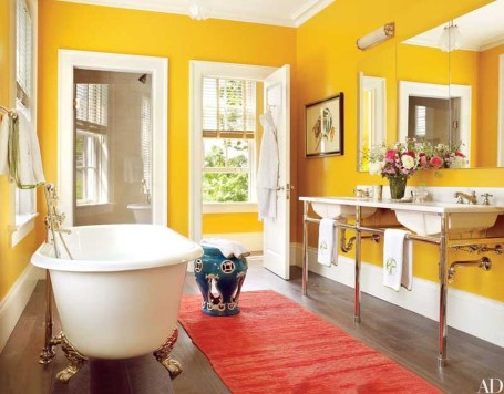 Lovely Sunny Yellow Bathroom Design Ideas 14