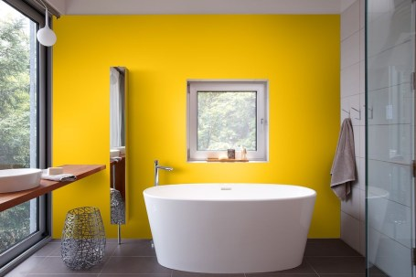 Lovely Sunny Yellow Bathroom Design Ideas 16