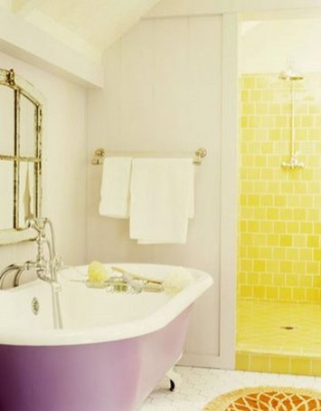 Lovely Sunny Yellow Bathroom Design Ideas 24