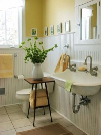 Lovely Sunny Yellow Bathroom Design Ideas 27