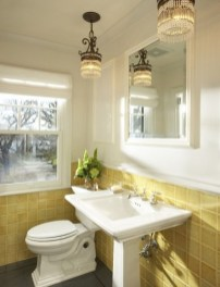 Lovely Sunny Yellow Bathroom Design Ideas 28