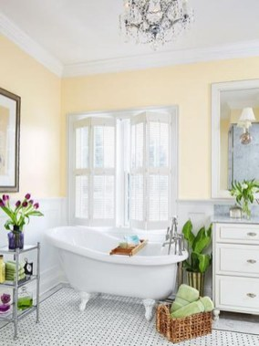 Lovely Sunny Yellow Bathroom Design Ideas 35