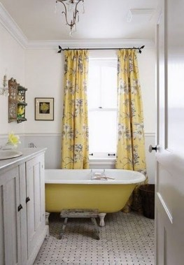 Lovely Sunny Yellow Bathroom Design Ideas 37