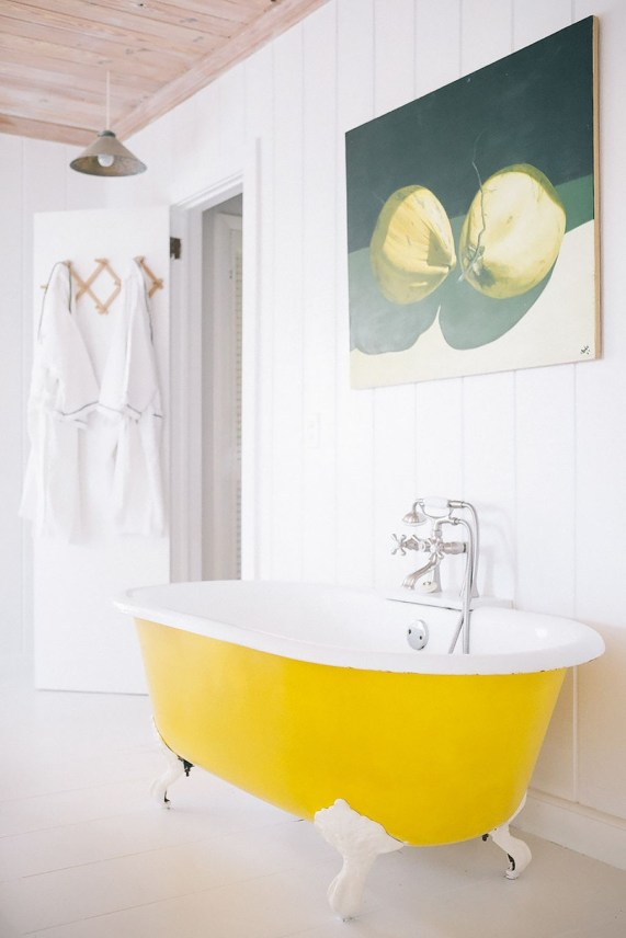 Lovely Sunny Yellow Bathroom Design Ideas 44