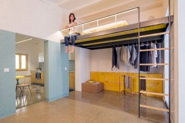 Totally Cool Tiny Apartment Loft Space Ideas 08