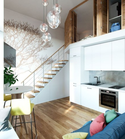 Totally Cool Tiny Apartment Loft Space Ideas 09