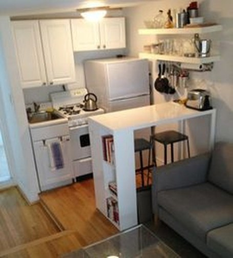 Totally Cool Tiny Apartment Loft Space Ideas 25
