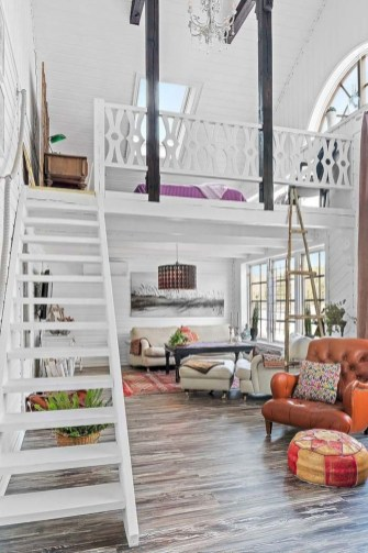Totally Cool Tiny Apartment Loft Space Ideas 27