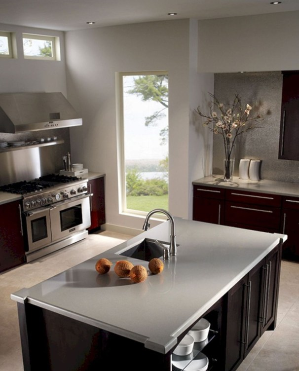 Best Porcelain Slab Countertops Design Ideas For Your Kitchen 22