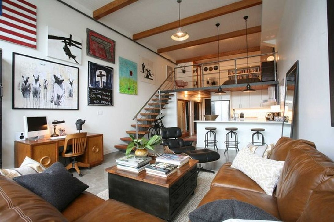 Elegant Loft Style Living Room Design Ideas For Winter 18
