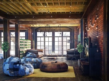 Elegant Loft Style Living Room Design Ideas For Winter 19