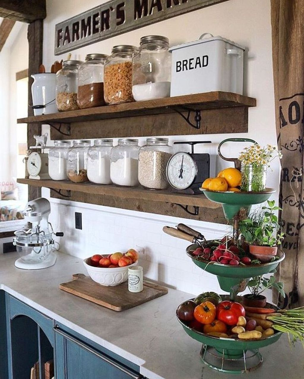 Stylish Rustic Kitchen Apartment Decoration Ideas 04
