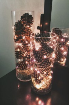 Stylish Winter Centerpiece Decoration Ideas 02
