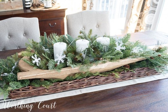 Stylish Winter Centerpiece Decoration Ideas 08