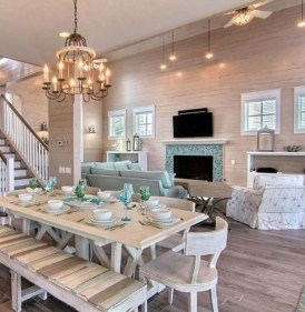 Amazing Rustic Dining Room Table Decor Ideas 22