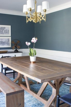 Amazing Rustic Dining Room Table Decor Ideas 26
