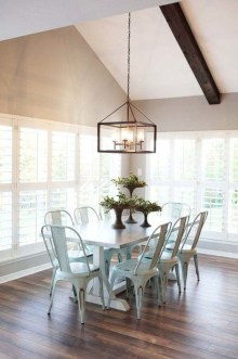Amazing Rustic Dining Room Table Decor Ideas 47