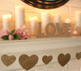 Best Valentines Fire Pit Mantel Decorating Ideas 29