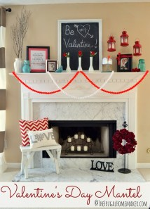 Best Valentines Fire Pit Mantel Decorating Ideas 37