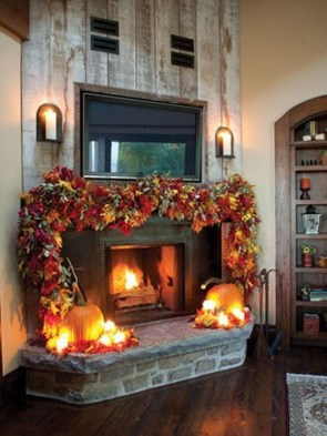 Best Valentines Fire Pit Mantel Decorating Ideas 42