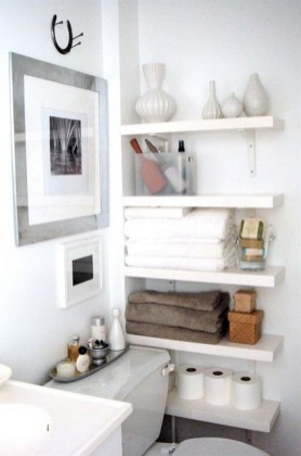 Brilliant Small Bathroom Storage Organization Ideas 44