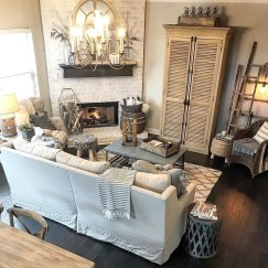Cute Shabby Chic Farmhouse Living Room Decor Ideas 12