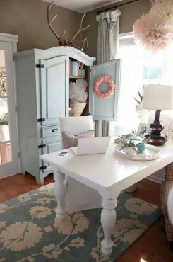 Cute Shabby Chic Farmhouse Living Room Decor Ideas 14