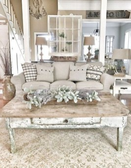 Cute Shabby Chic Farmhouse Living Room Decor Ideas 34