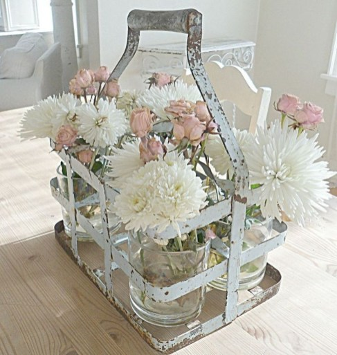 Cute Shabby Chic Farmhouse Living Room Decor Ideas 35