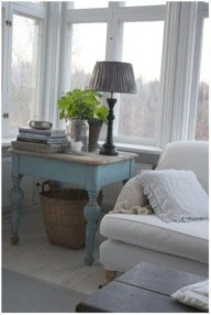 Cute Shabby Chic Farmhouse Living Room Decor Ideas 40