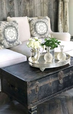 Cute Shabby Chic Farmhouse Living Room Design Ideas 08