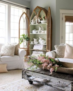 Cute Shabby Chic Farmhouse Living Room Design Ideas 10
