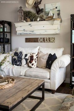 Cute Shabby Chic Farmhouse Living Room Design Ideas 17