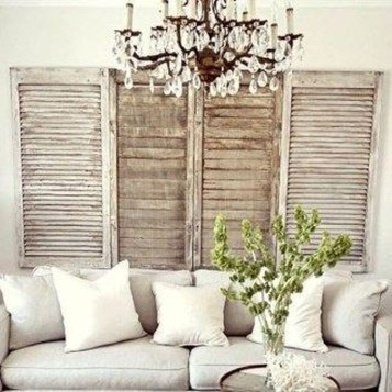 Cute Shabby Chic Farmhouse Living Room Design Ideas 18