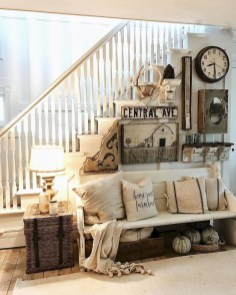 Cute Shabby Chic Farmhouse Living Room Design Ideas 21