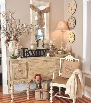 Cute Shabby Chic Farmhouse Living Room Design Ideas 44