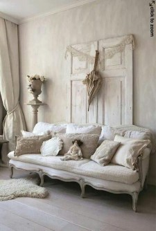 Cute Shabby Chic Farmhouse Living Room Design Ideas 45