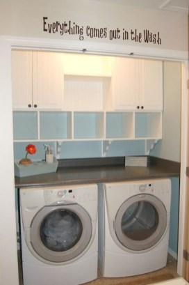 Totally Inspiring Small Functional Laundry Room Ideas 41