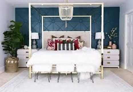 Awesome Canopy Bed With Sparkling Lights Decor Ideas 15