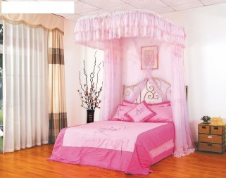 Awesome Canopy Bed With Sparkling Lights Decor Ideas 21
