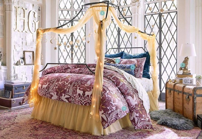 Awesome Canopy Bed With Sparkling Lights Decor Ideas 45