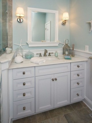 Awesome Coastral Nautical Bathroom Design Ideas 36