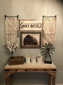 Cute Rustic Farmhouse Home Decoration Ideas 22