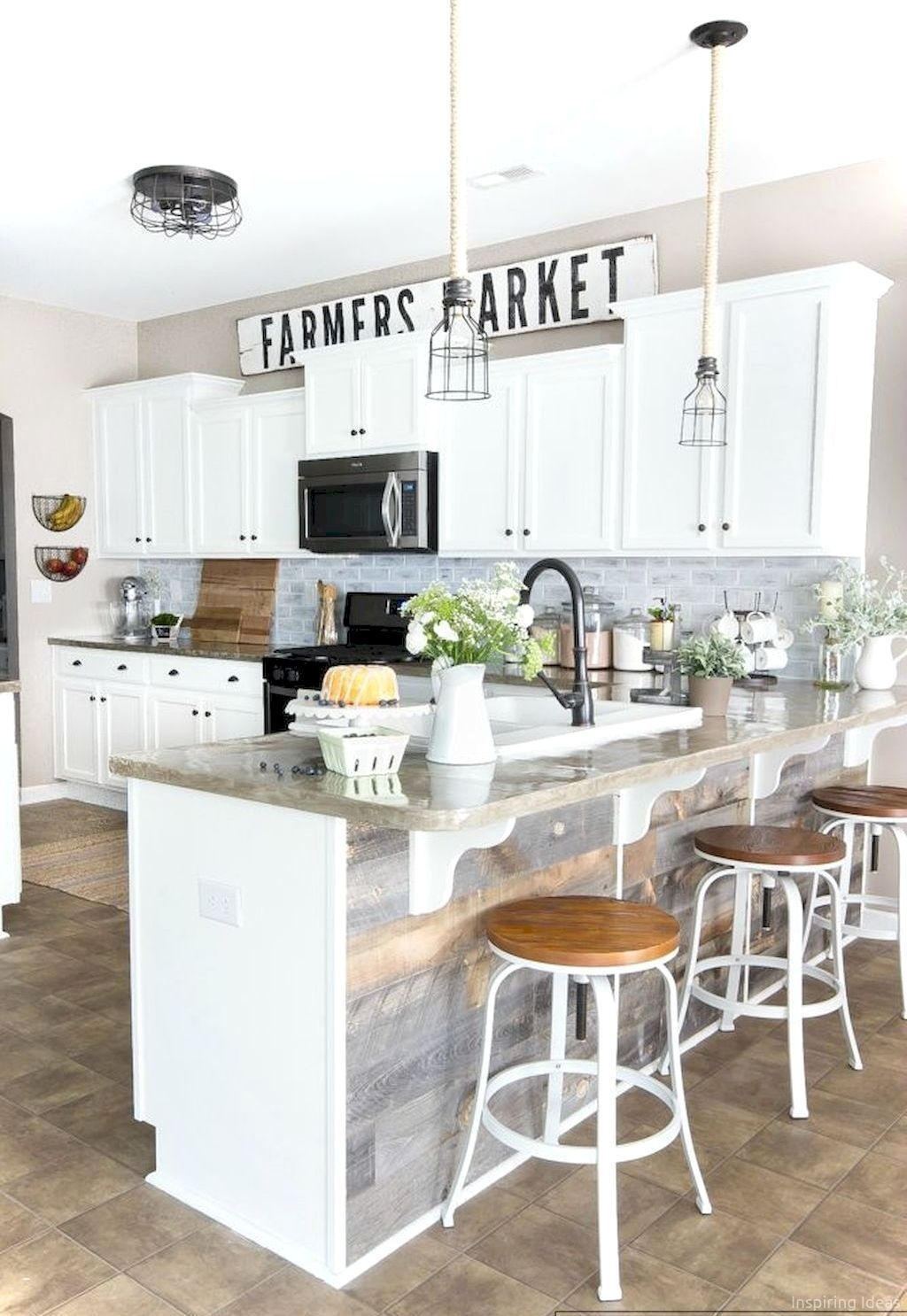 Gorgeous Rustic Farmhouse Kitchen Decoration Ideas 45