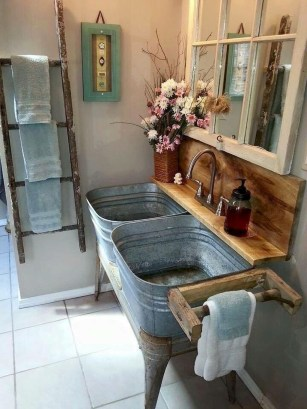 Modern Farmhouse Bathroom Vanity Design Ideas 18