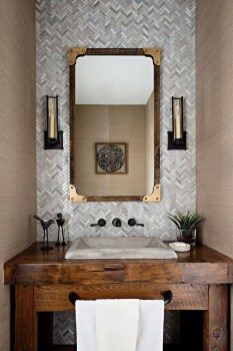 Modern Farmhouse Bathroom Vanity Design Ideas 44