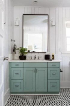 Modern Farmhouse Bathroom Vanity Design Ideas 45