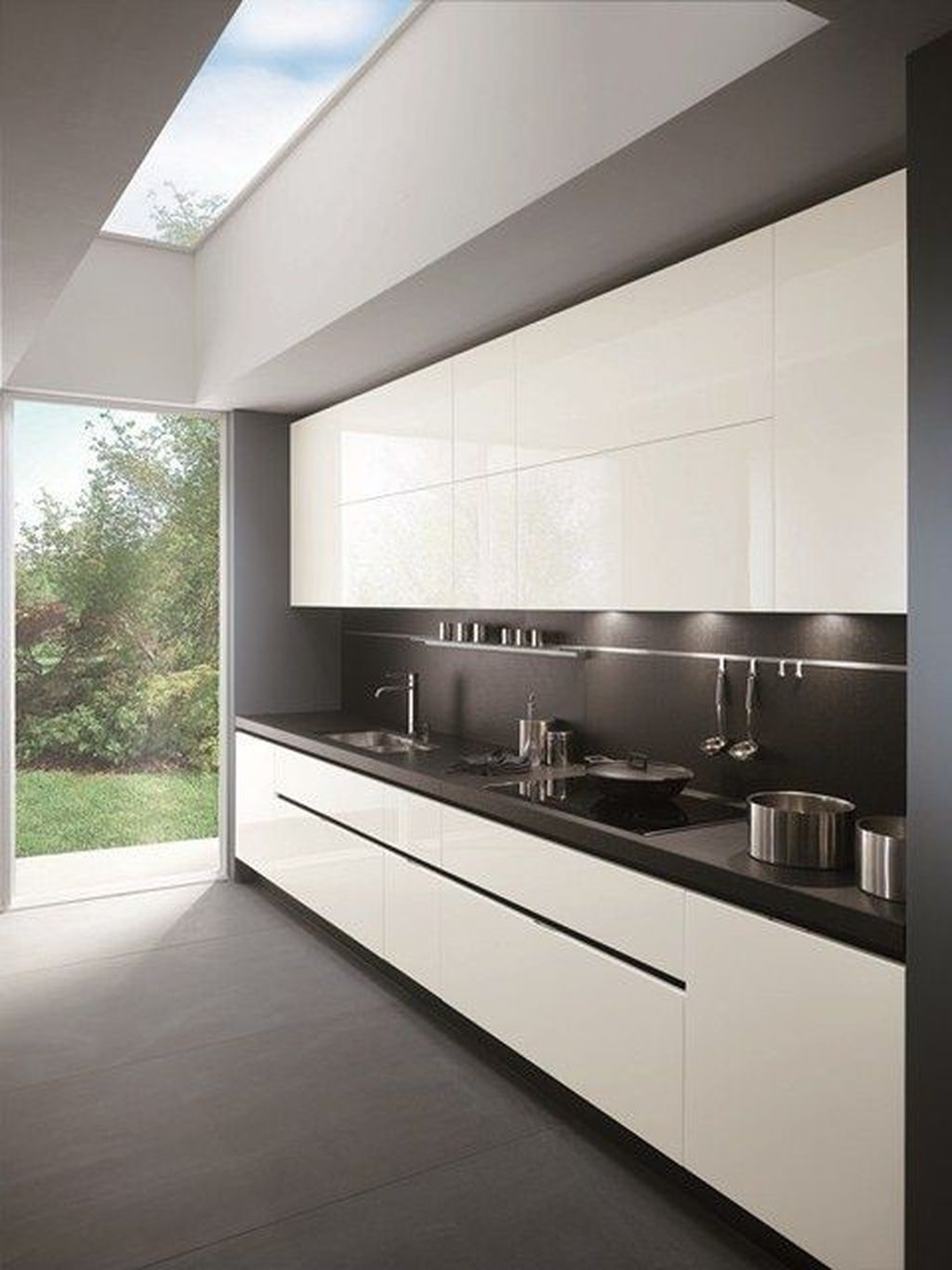 Simple Minimalist Small White Kitchen Design Ideas 04