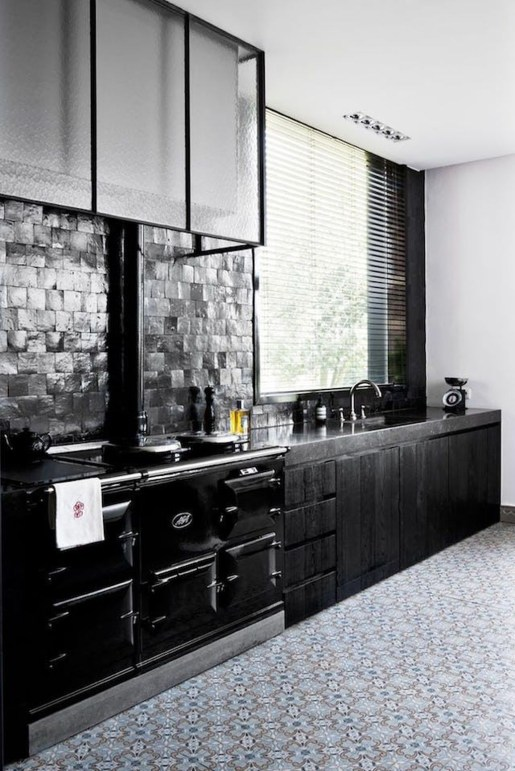 Stunning Luxury Black Kitchen Design Ideas 32