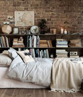 Adorable Exposed Brick Walls Bedrooms Design Ideas 14